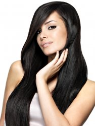 #1 Black, 70 cm, Double drawn Tape Extensions