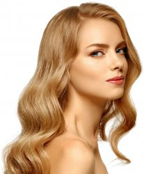 #12 Dark Blonde, 60 cm, Double drawn Nail Hair