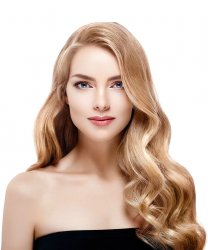 #18 Medium Blonde, 40 cm, Ringhair