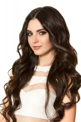 #2 Dark Brown, 50 cm, Double drawn Nail Hair