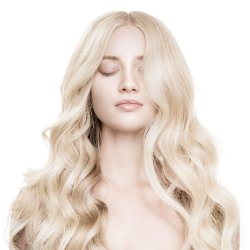 #6001 Extra Light Blonde, 60 cm, Double drawn Nail Hair