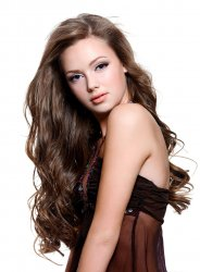 #8 Brown, 50 cm, Tape Extensions