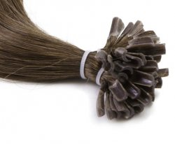 #1B Black Brown, 60 cm, Double drawn Nail Hair