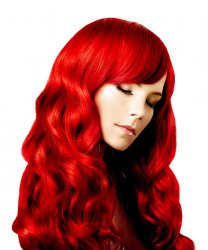#Red, 30cm, 50g, Tape Extensions