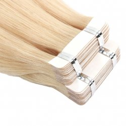 #6001 Extra Light Blonde, 70 cm, Double drawn Tape Extensions